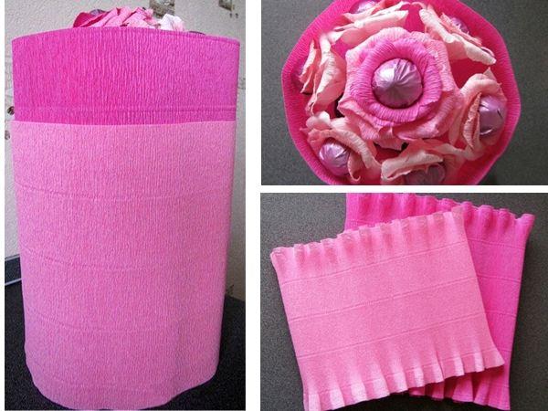 Как упаковывать цветы в гофрированную бумагу 114